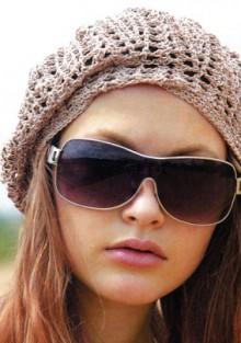 crochet lace beret for women