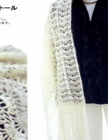 crochet lace stole