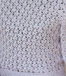 crochet ladies pullover, crochet pattern