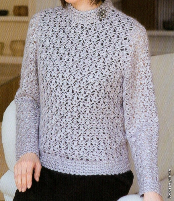 Crochet Xxl Patterns : crochet ladies pullover, crochet pattern make handmade ...