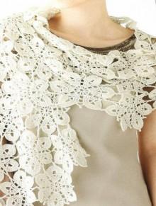 crochet snowflakes flower scarf pattern