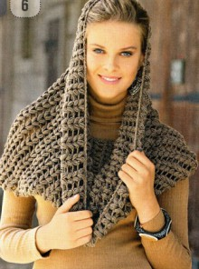 crochet poncho and scarf for ladies