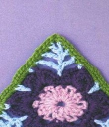 flower round, square, triangle, hexagon crochet patterns