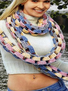 unique gifts: cute scarf, free crochet patterns