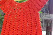 shell baby dress, easy and beauty to crochet