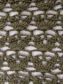 crochet lace leaves scarf