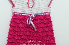crochet charming baby dress with fish skin dress, crochet pattern