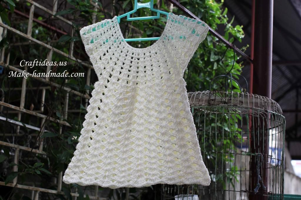 crochet angel dress