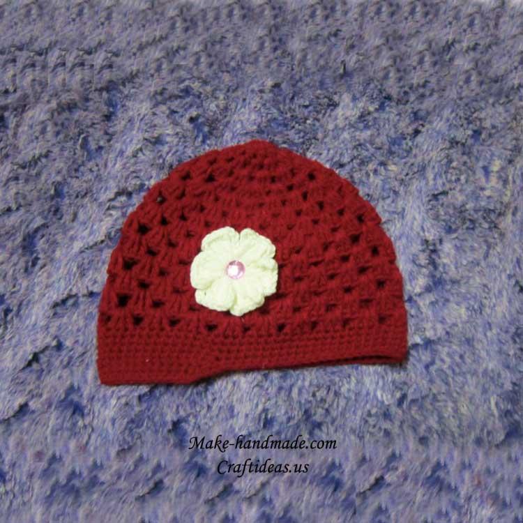 crochet baby banie