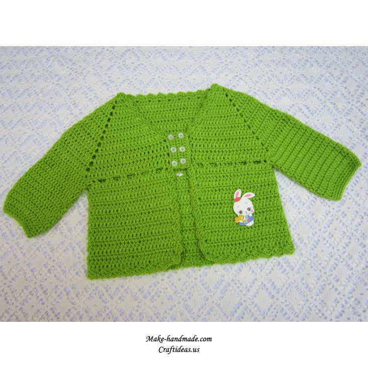 crochet baby beauty jacket