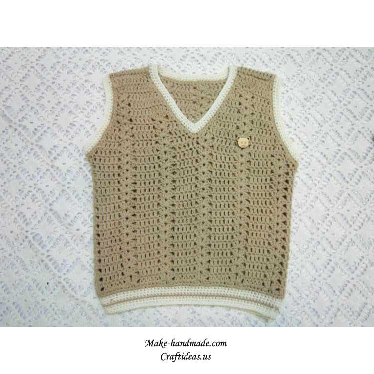 crochet baby boy gilets