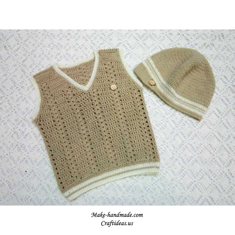 crochet baby boy set