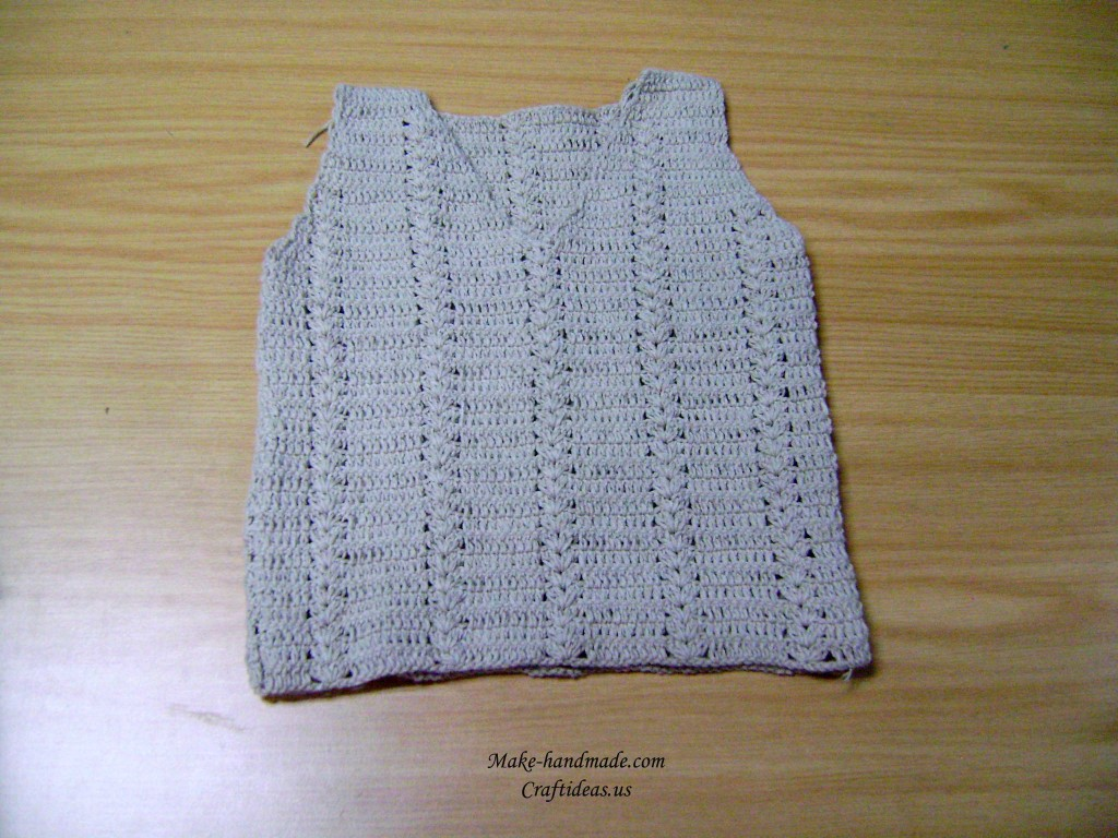 crochet baby boy top