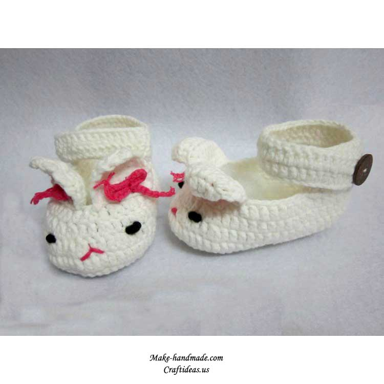 Crochet Bunny Baby Booties Pattern : crochet baby booties, more ideas make handmade, crochet ...