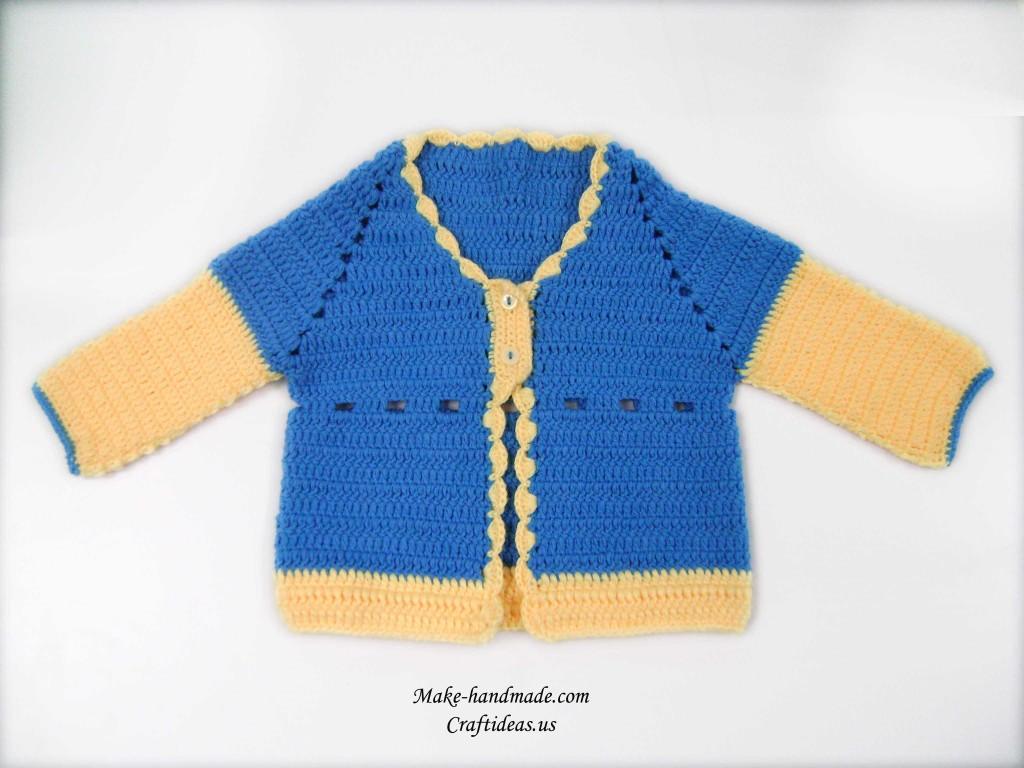 crochet baby cute jacket