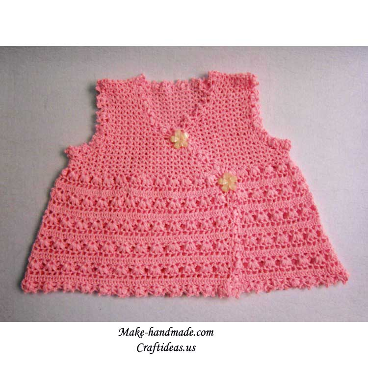 how to make crochet baby dress