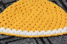 crochet shell baby hat, crochet pattern