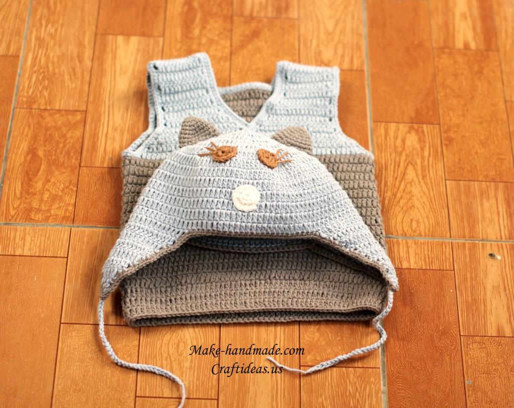 crochet baby hat and vest