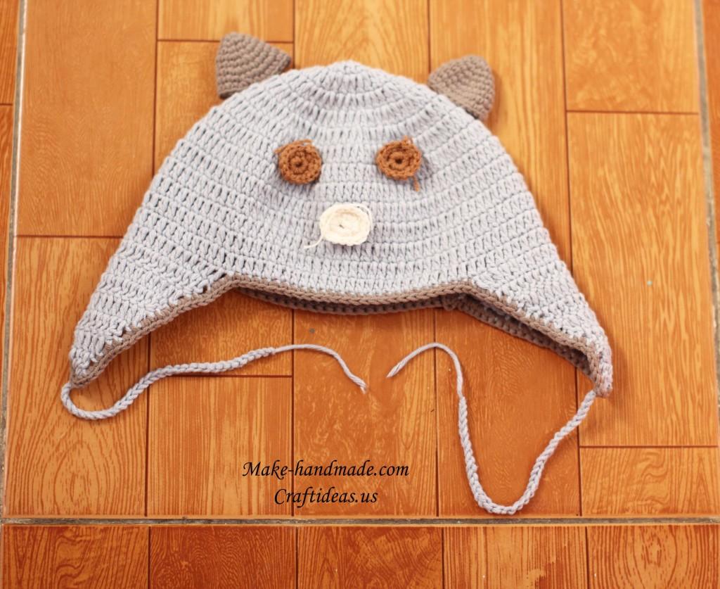 crochet baby hellokitty hat