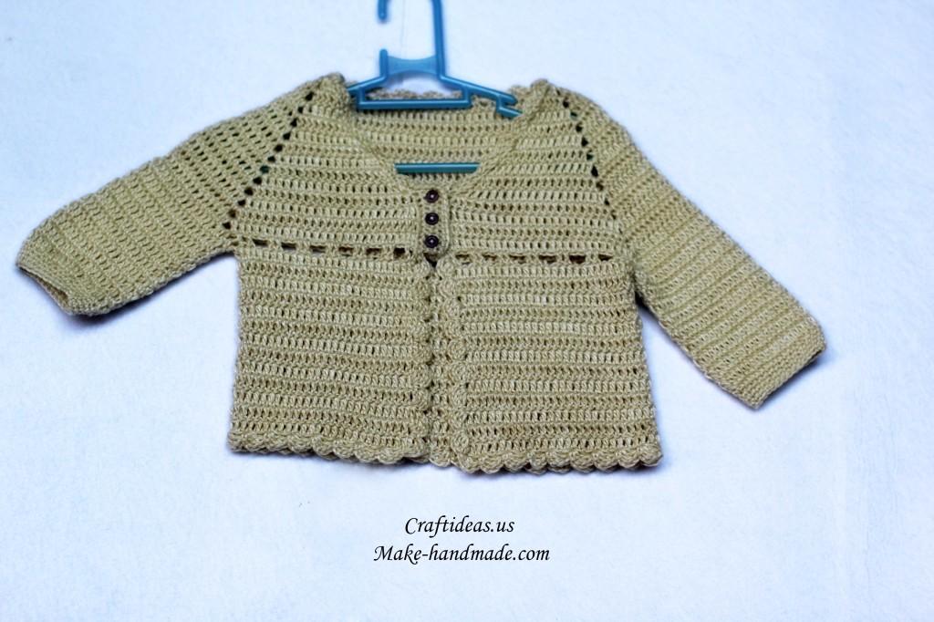 crochet baby jacket 2