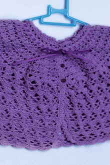 crochet lace baby jacket