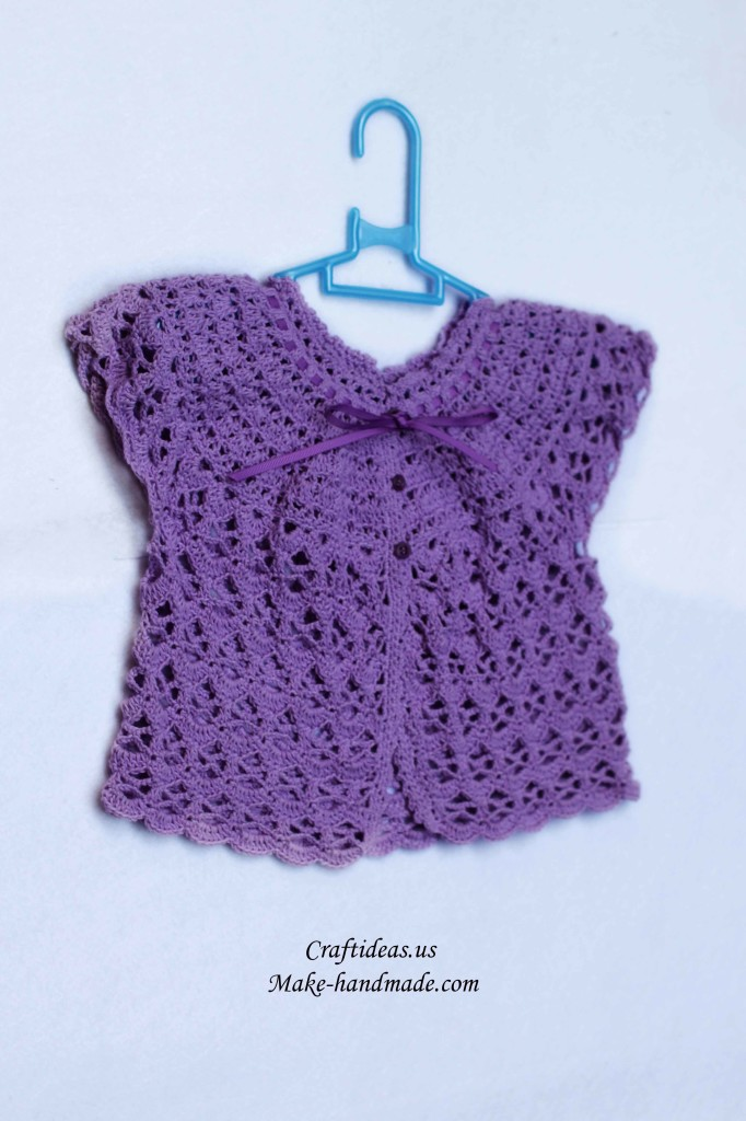 Crochet Baby Jacket Pattern : crochet lace baby jacket make handmade, crochet, craft