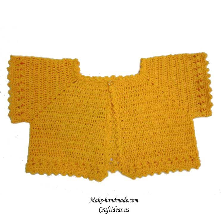 crochet baby jacket and vest