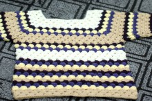 crochet baby shell sweater