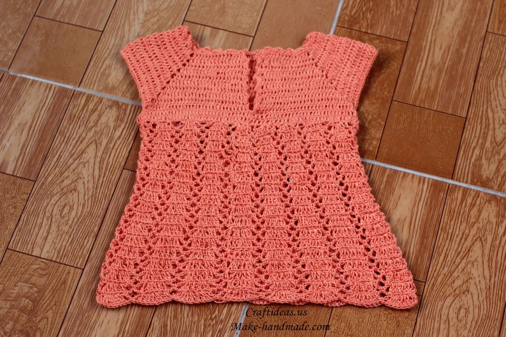 crochet baby sweater and dress