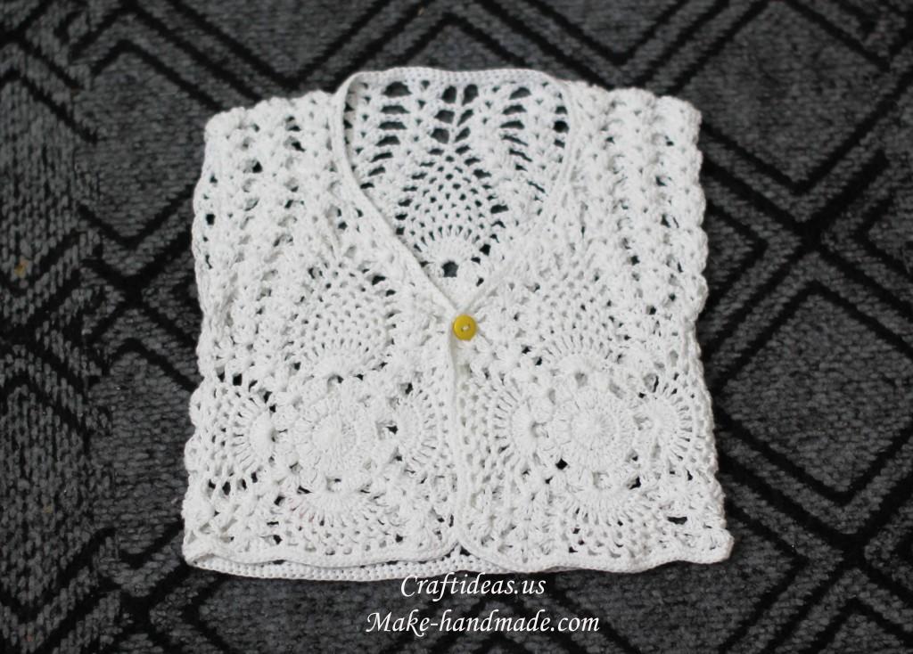 Easy Crochet Baby Vest Pattern : crochet lace beauty vest for kids make handmade, crochet ...