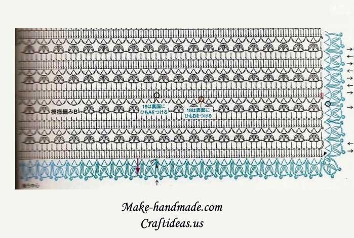 crochet baby vest and top diagram