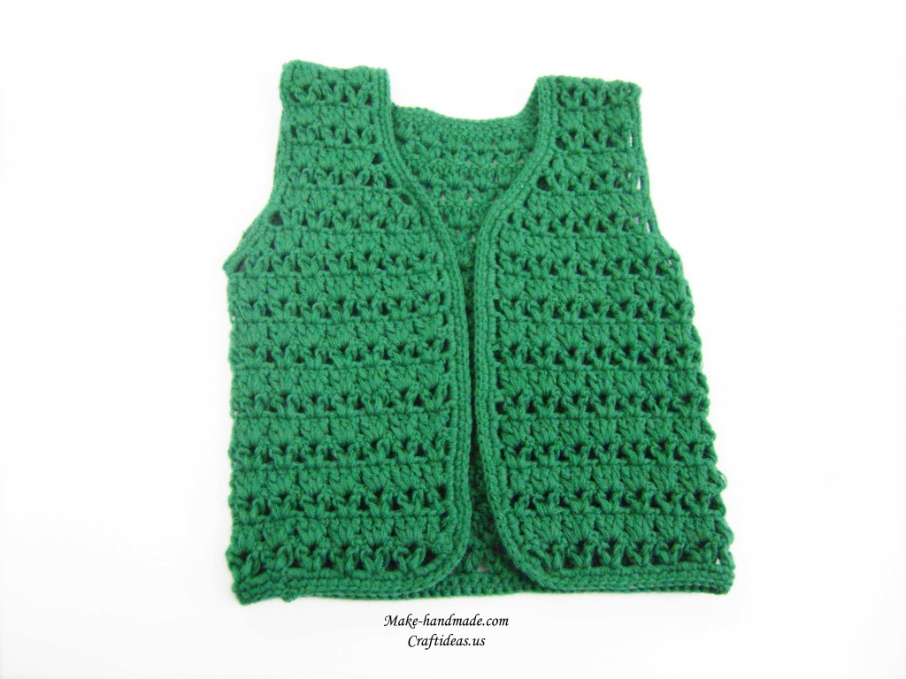 crochet baby vest ideas