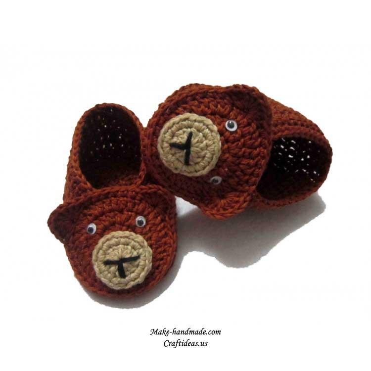 crochet bear booties