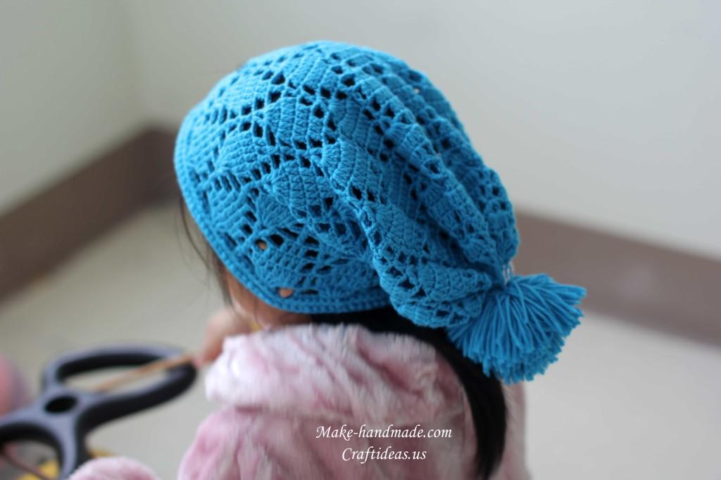 crochet beauty baby hat