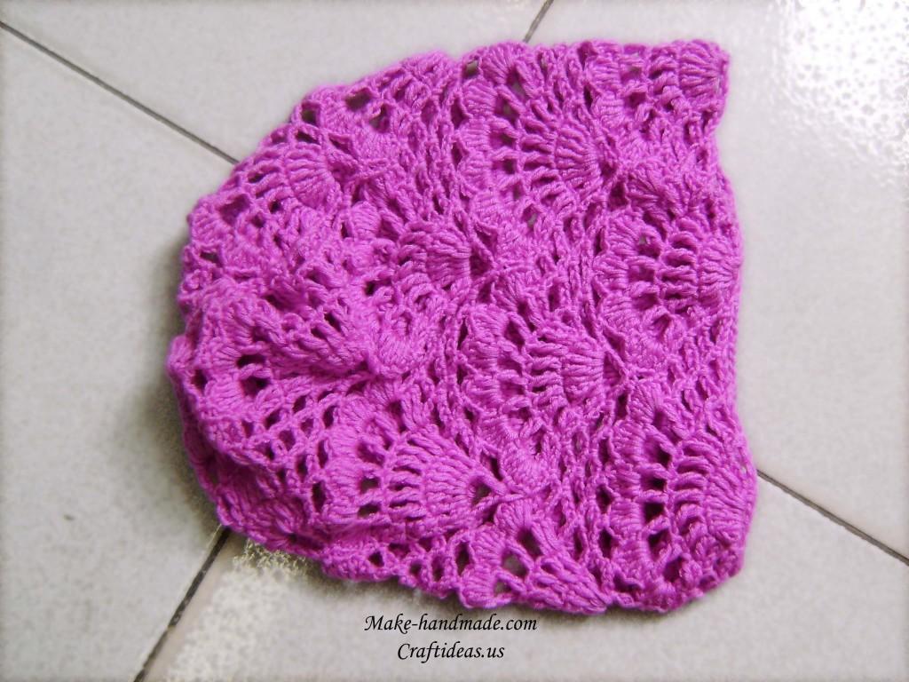 crochet beauty girl hat