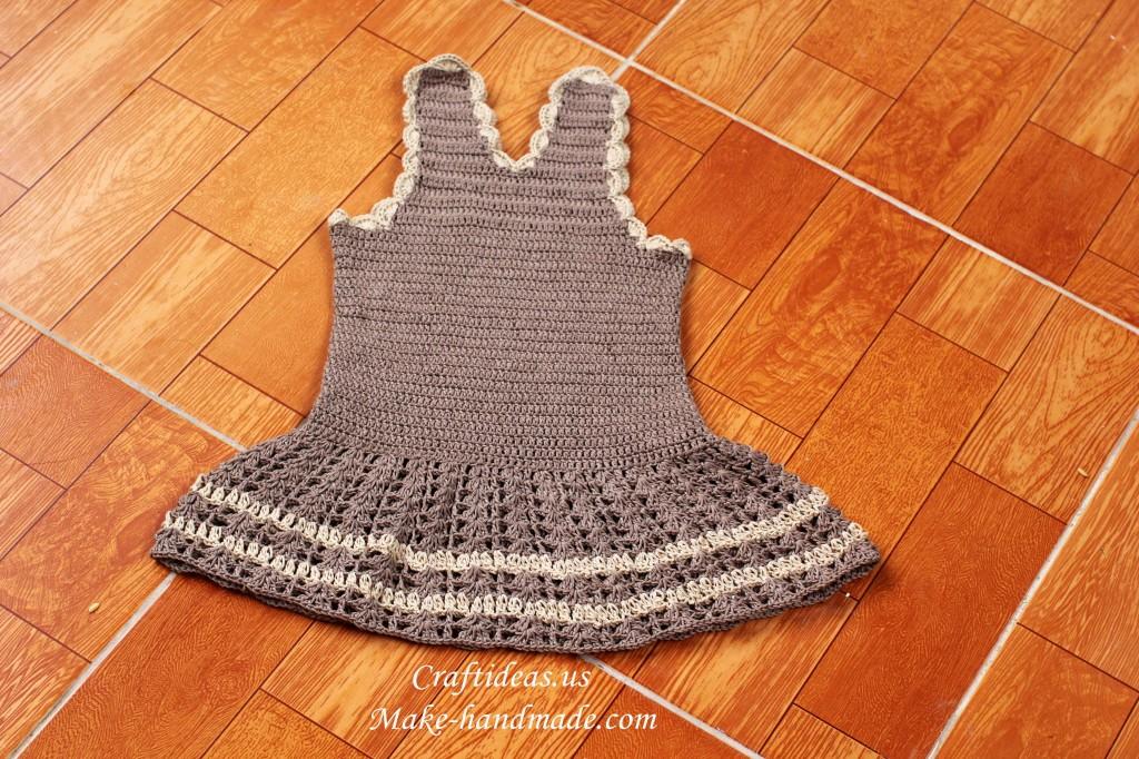crochet beauty summer baby dress