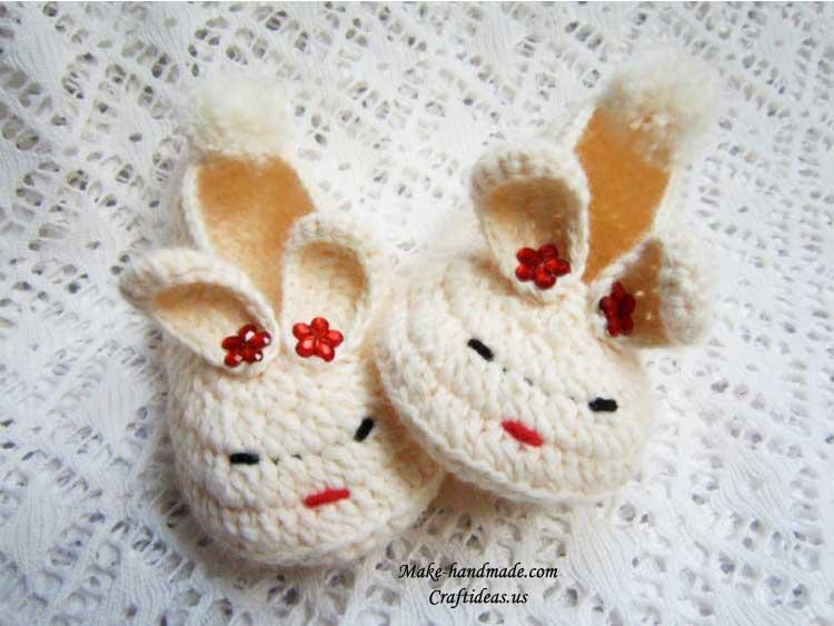 crochet bunny booties