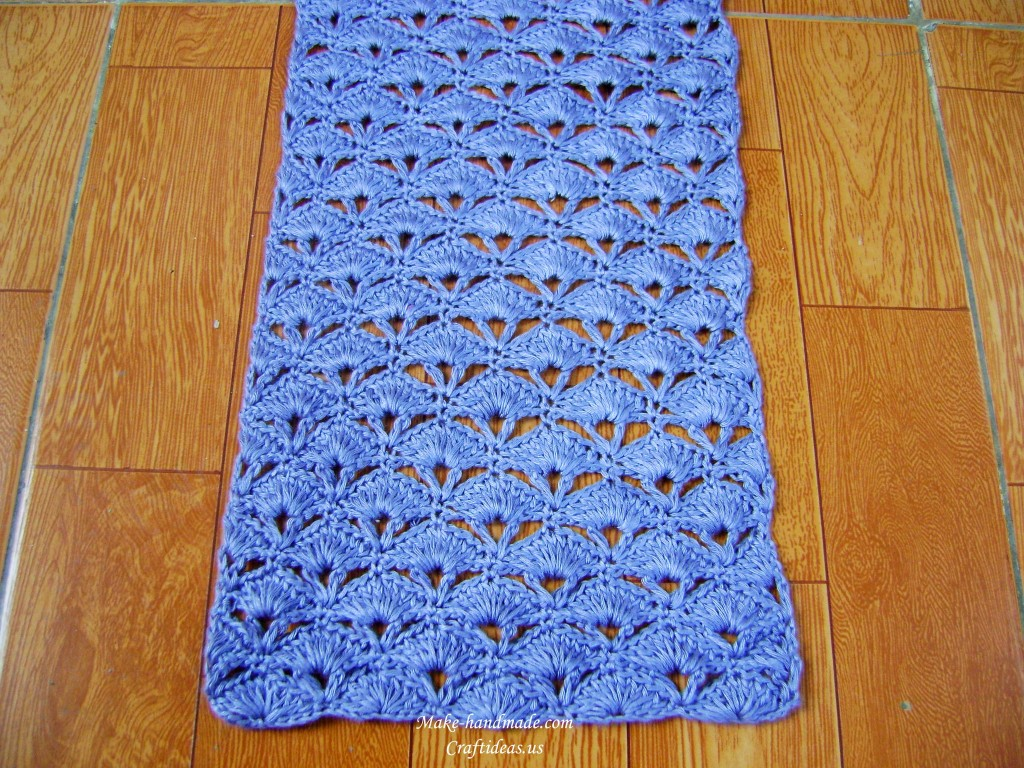 crochet charming fan scarf