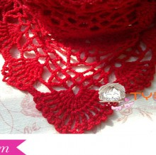 crochet charming shawl, crochet pattern