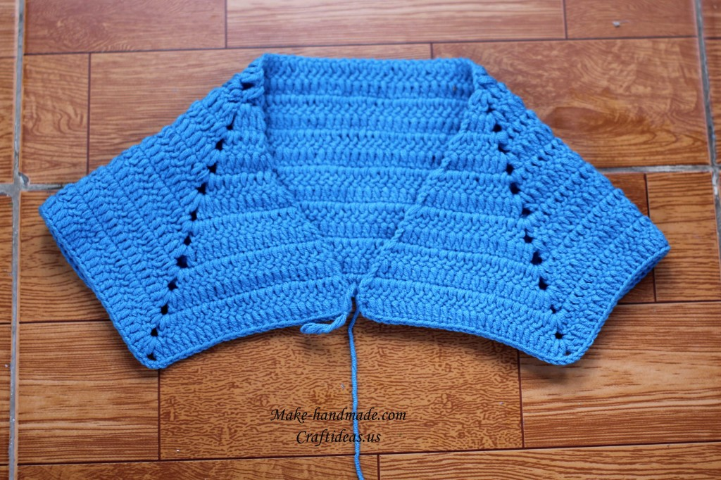 crochet collar for baby jacket
