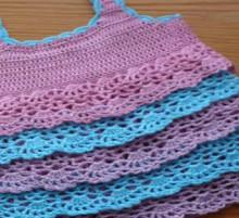 crochet colorful baby dress, crochet pattern