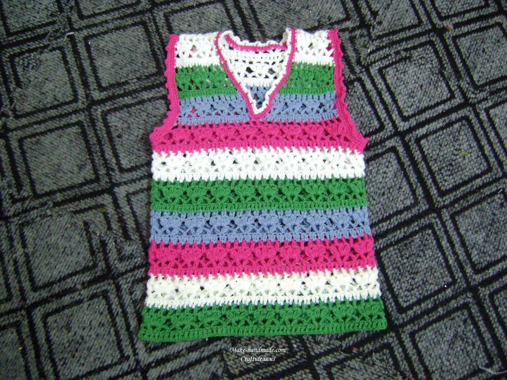 crochet colorful baby fashion