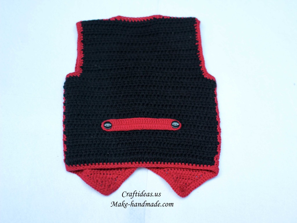 crochet cute baby boy vest