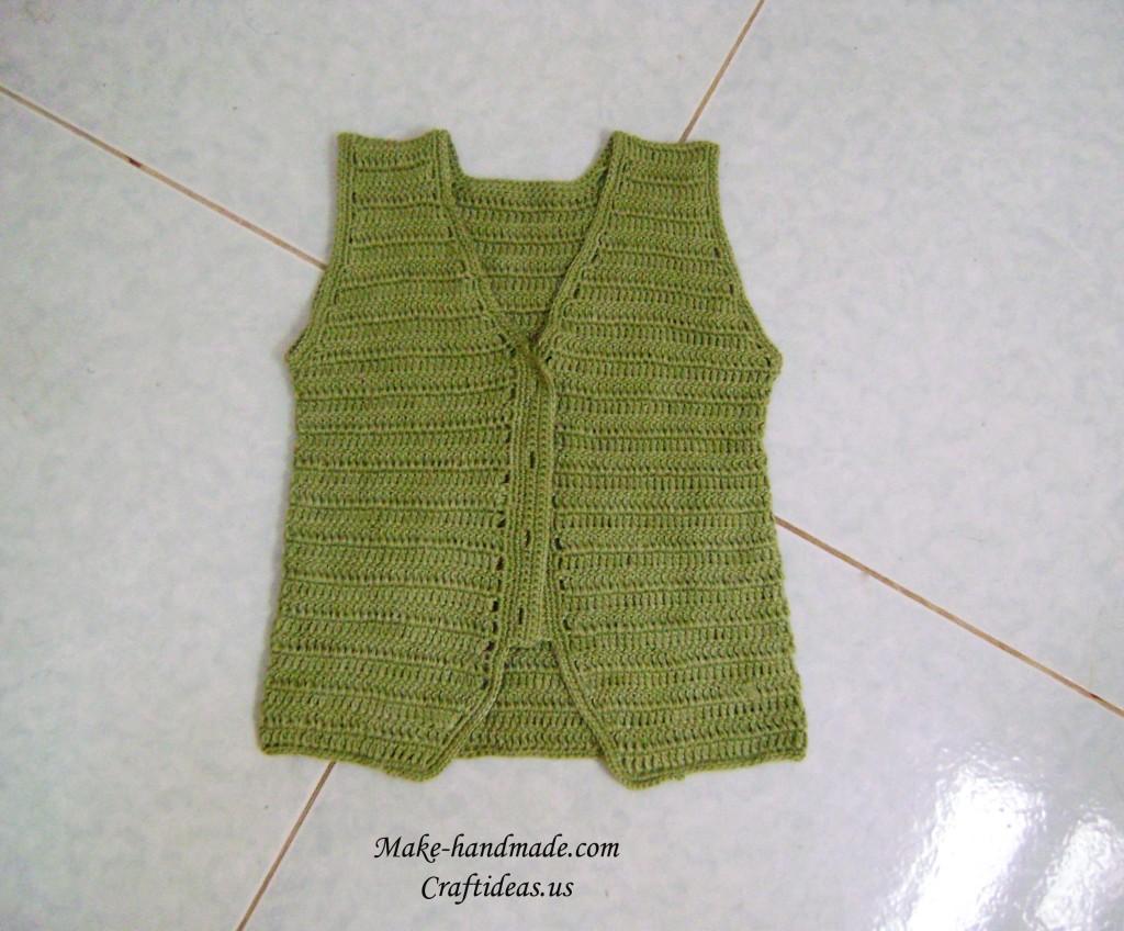 crochet cute baby vest