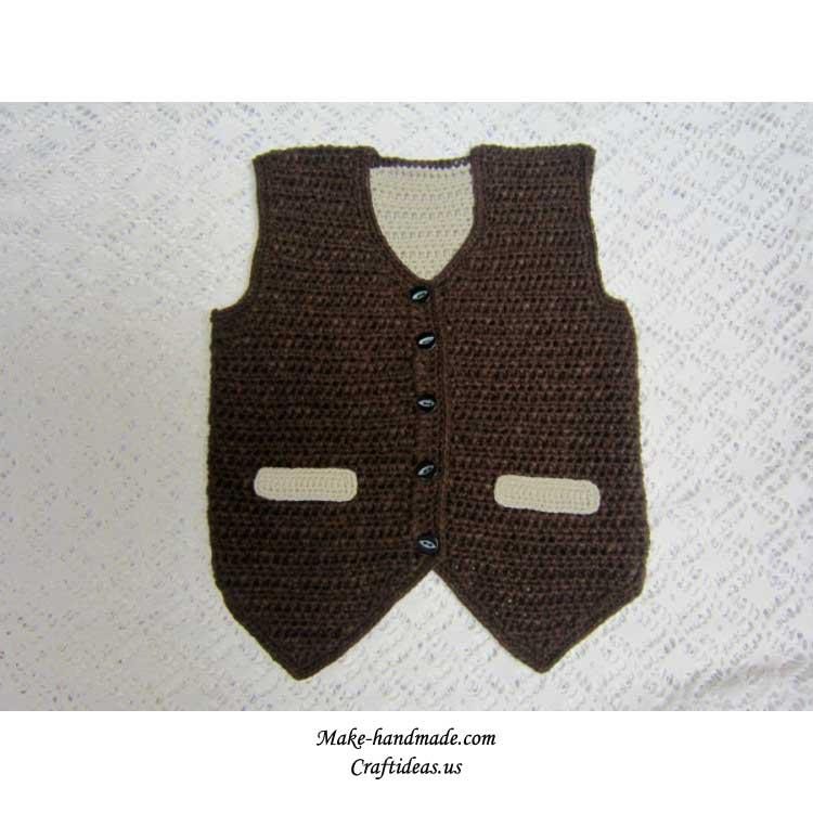 crochet cute baby vest 2