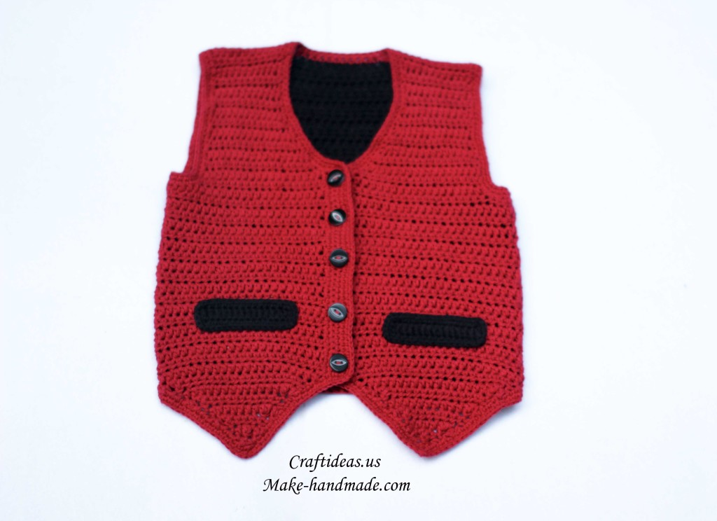 crochet cute boy vest