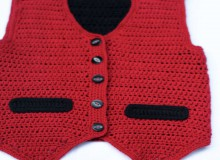 crochet beauty boy vest