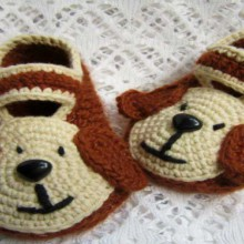 crochet baby booties, more ideas