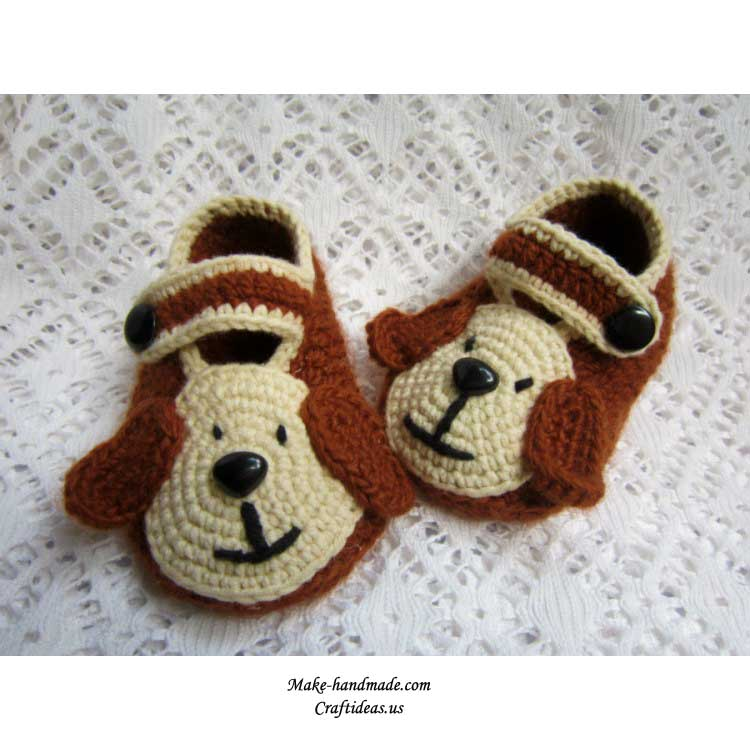 crochet cute dog booties