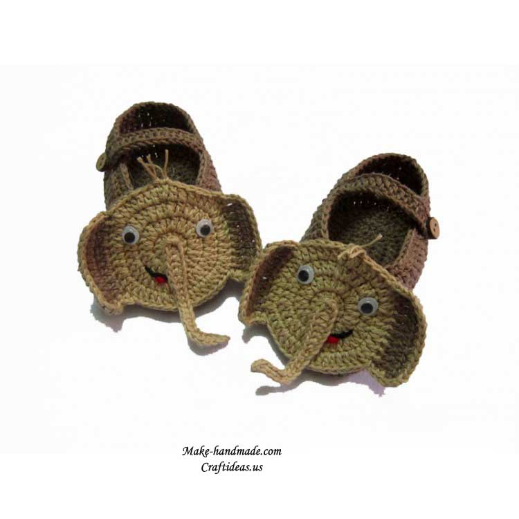 crochet elephant booties